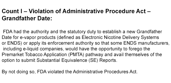 Vaping-Industry-Files-FDA-Complaint-In-DC-count-1