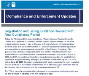 FDA Registration and Listing Guidance Revised