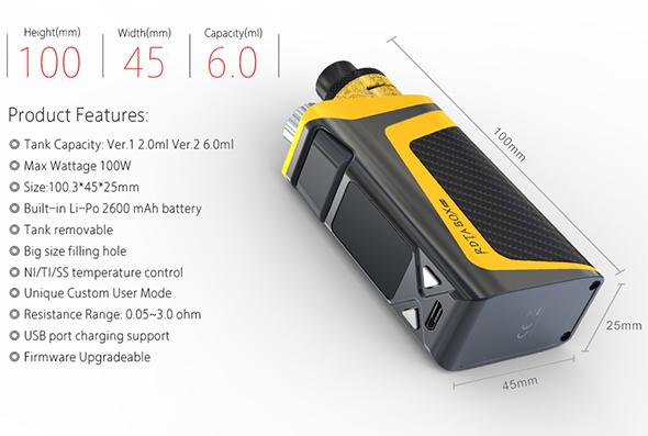 iJoy RDTA Box Mini Features