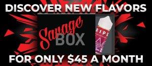 Savage Box E-Liquid Subscription Promotion