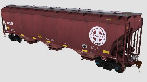 BNSF Trinity 3-Bay Covered Hopper