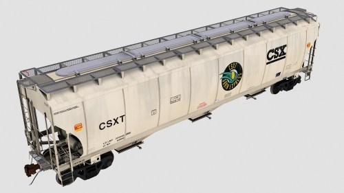 CSXT Trinity 3-Bay Covered Hopper