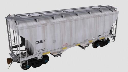 CMEX Trinity 2-Bay Covered Hopper