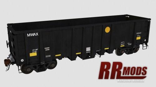 MWAX 3201-3335 NSC 2500cf Aggregate Gondola for Railworks