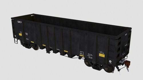 GACX 55120-55169 National Steel Car 2500cf aggregate gondola