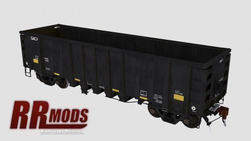 GACX 55120-55169 NSC 2500cf Aggregate Gondola for Railworks