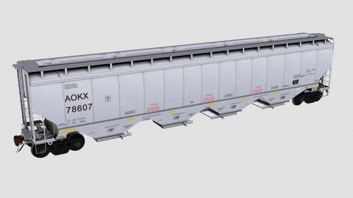 AOKX 78500-78719 Greenbrier 6580cf covered hopper