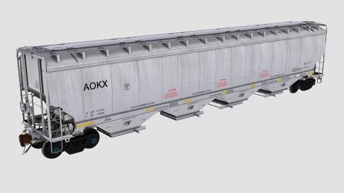 AOKX 78720-78969 Greenbrier 6580cf covered hopper