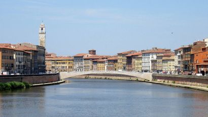 Pisa, il Ponte di Mezzo