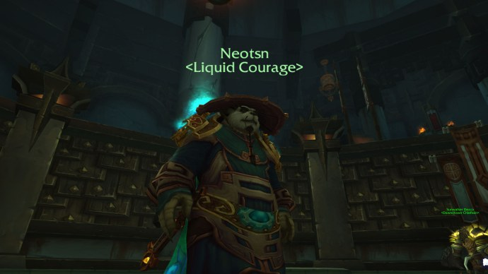 To a Pandaren Mage, with a bonus to Cooking and Rested XP
