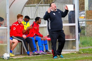 09/04/2016.Ashford Town v Guildford City FC.  City Manager Dean THOMAS