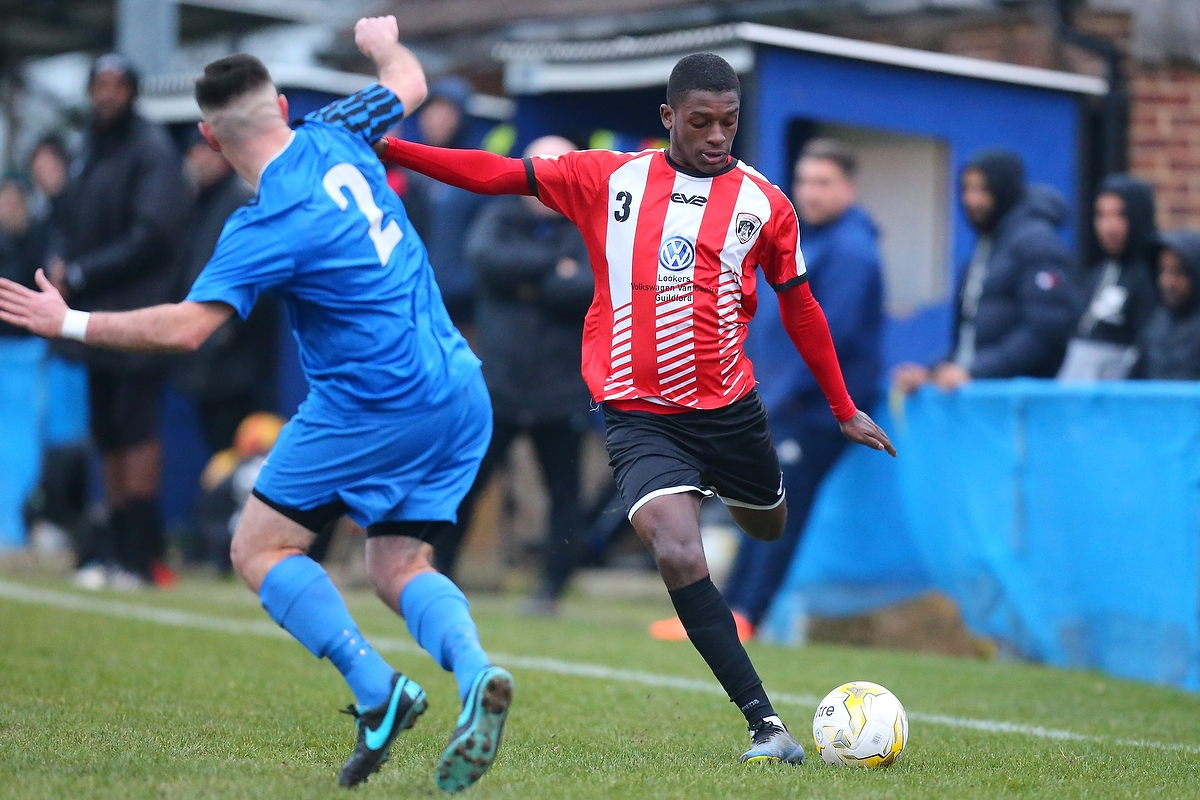 05/01/2019 Guildford City FC v Colliers Wood United. City win 1-0.