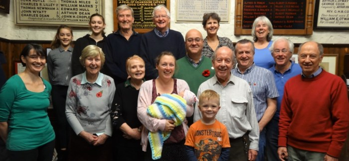 Leatherhead bell ringers and families: the team that rang for the morning service.
