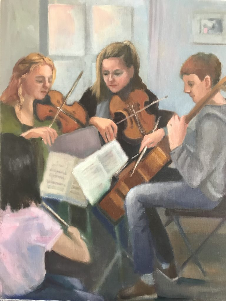 ©Martha Little Fuentes, The Practice Session. Oil on canvas, 11 x 14 inches
