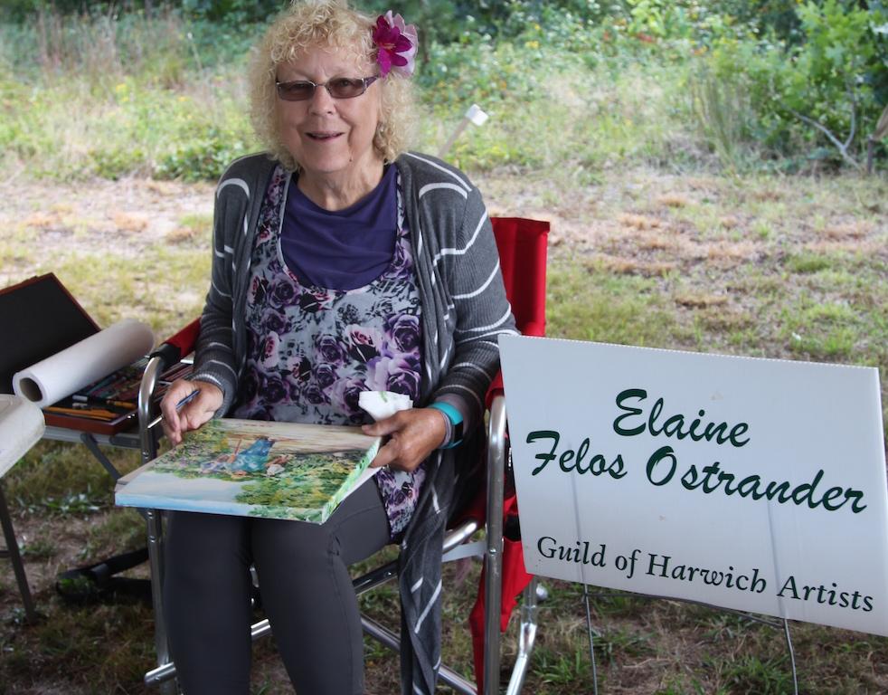 Elaine Felos Ostrander, 5th Annual Harwich Conservation Trust Wildlands Music & Art Stroll ©Kathleen Magnusson