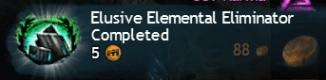 Elusive Elemental Eliminator Completed