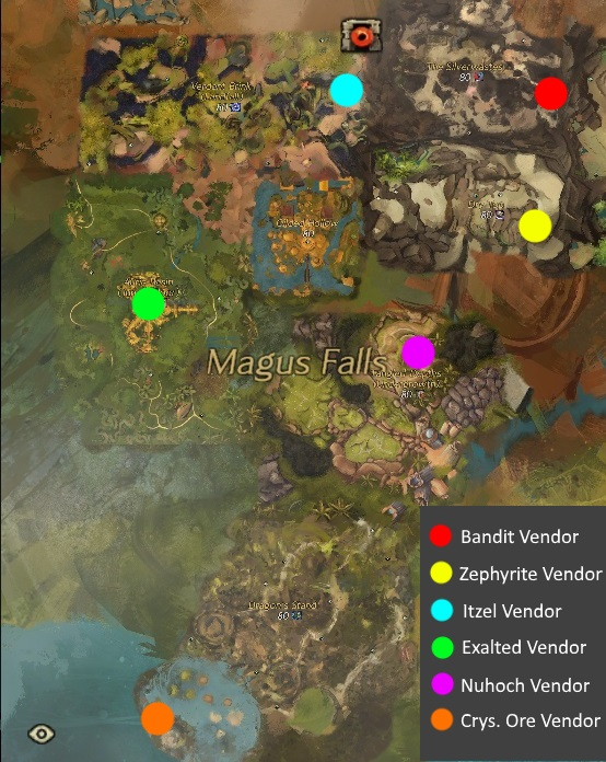 Mistward Vendor Map