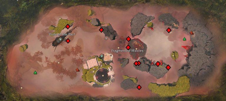 Upper Level Bloodstone Node Map