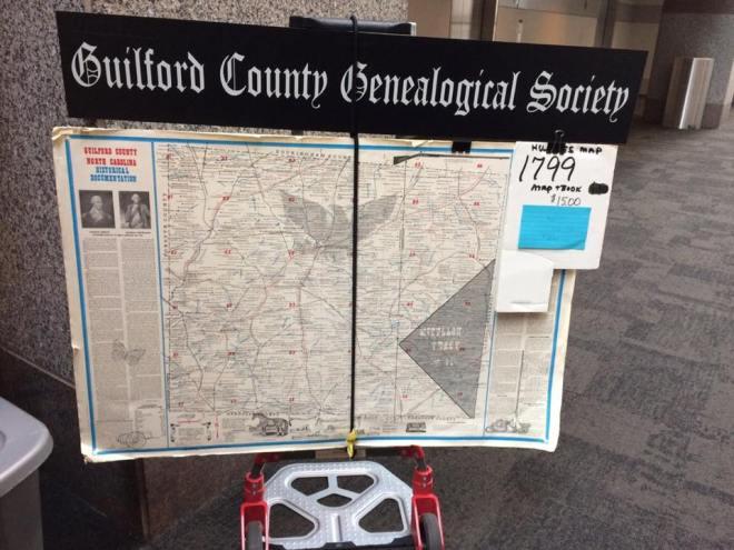 Guilford County 1799 Hughes Map at National Genealogical Society