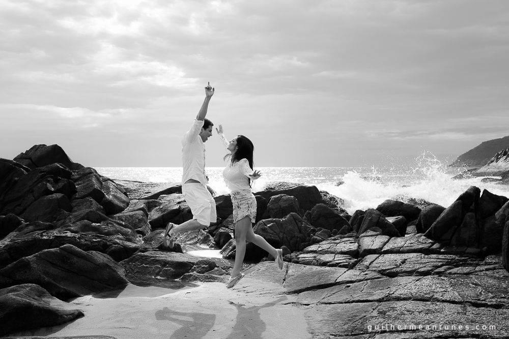 ensaio pré-weddingPalhoça (Na praia)