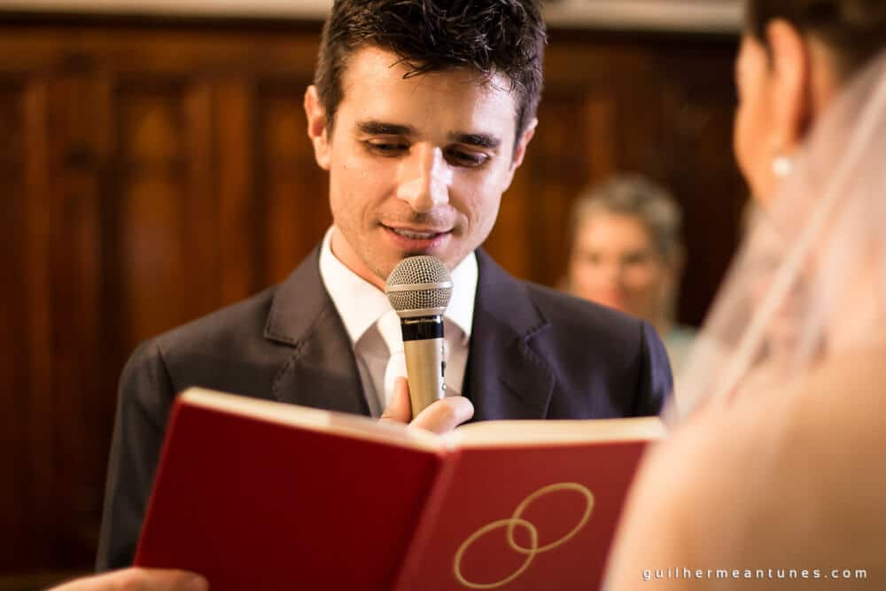 Fernanda e Charles: Fotografia de casamento em Lages (Os votos dele)