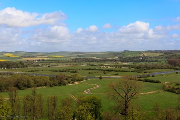 Vue du Chateau d'Arundel, principal fief, et le siège des ducs de Norfolk, premiers pairs d'Angleterre, qui détiennent le titre subsidiaire de comte d'Arundel.