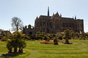Jardin du Chateau d'Arundel et la chapelle Fitzalan