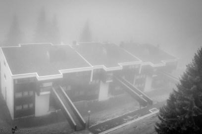 Flaine in the fog