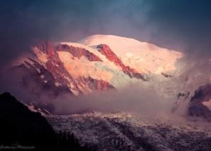 le Mont-Blanc vire au rose