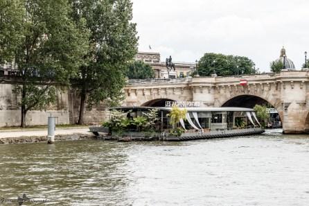 Paris autrement - un jardin sur la Seine