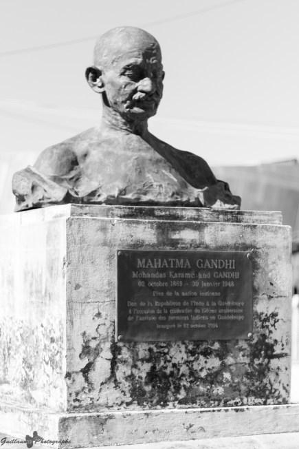 Basse-Terre - Buste de Gandhi