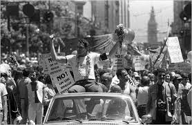 Harvey Milk at the first gay pride