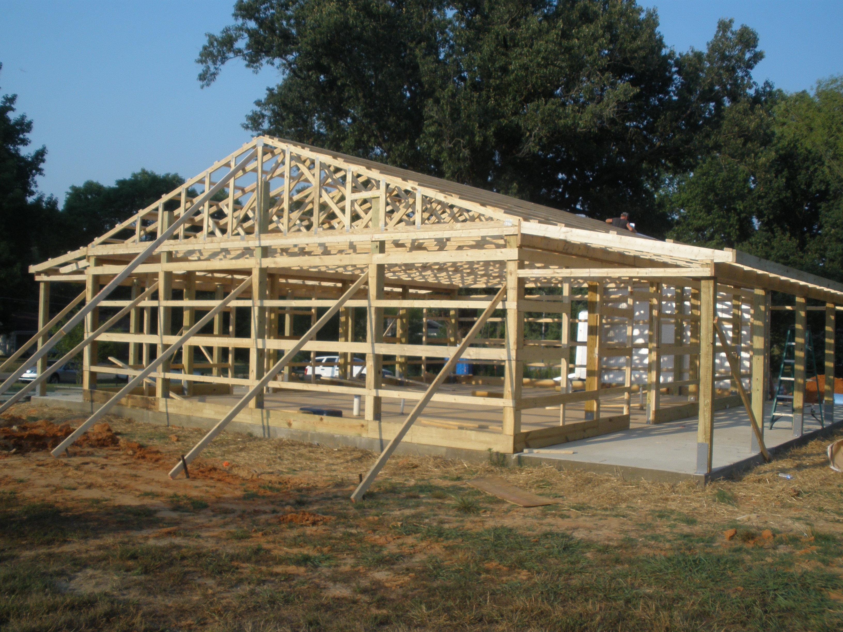 058.jpg (3264×2448) Diy carport, Building a pole barn