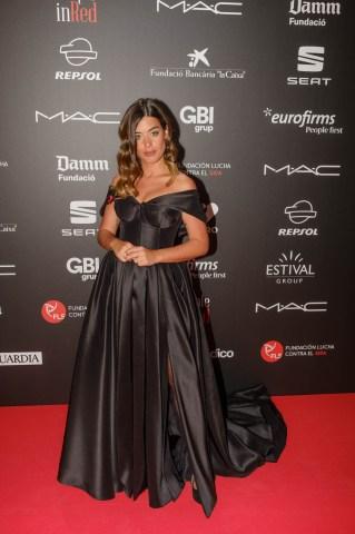 Aida Domenech (@dulceida) en el photocall de la gala People in Red de la Fundación Lucha contra el Sida (Barcelona, 2018)