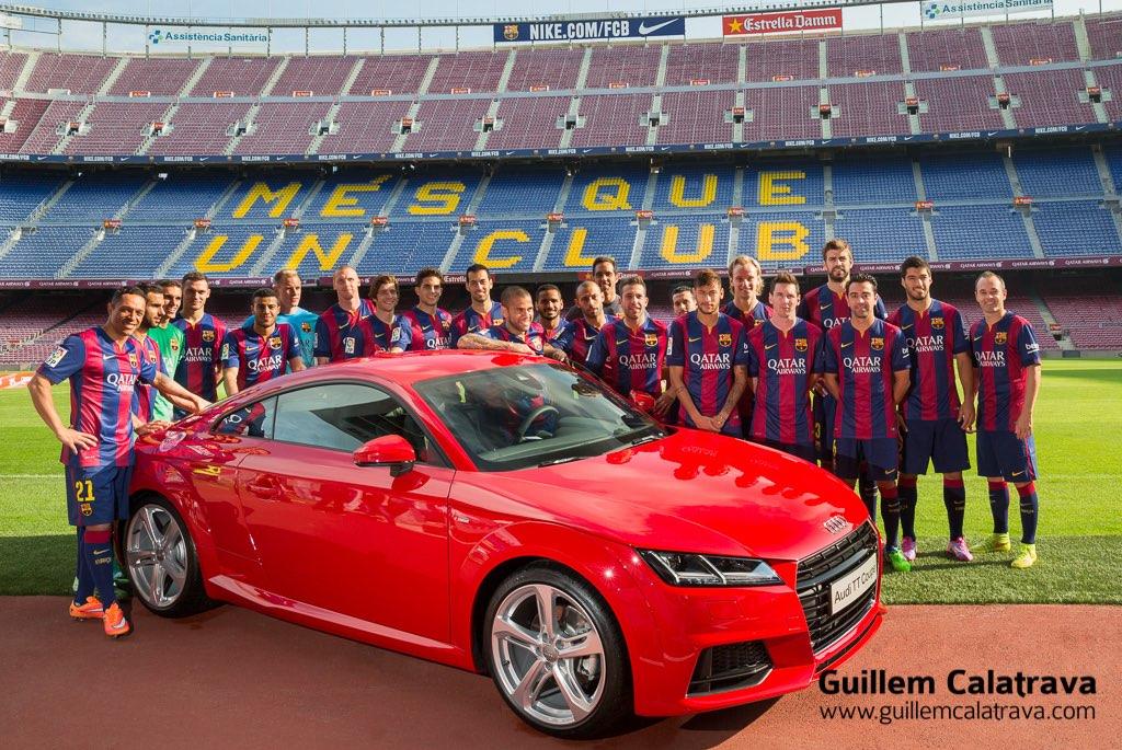 Fotografiando la plantilla del FCB para Audi