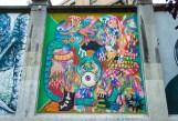 Muros Tabacalera 2014. Artistas: DrHomes y Sr. Mu