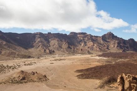 El marciano aspecto del Llano de Ucanca, a las faldas del Teide.