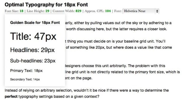 golden ratio typography 2