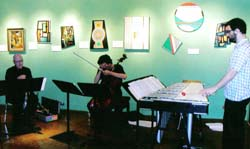 Madi Trio at the Madi Museum, Dallas. Guillermo Gregorio, Fred Lonberg-Holm and Jason Adasiewicz