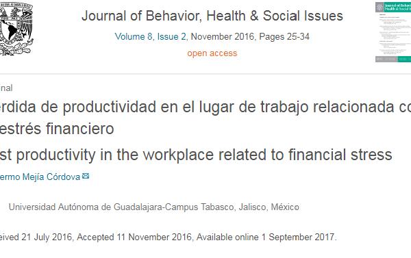 Pérdida de productividad en el lugar de trabajo relacionada con el estrés financiero