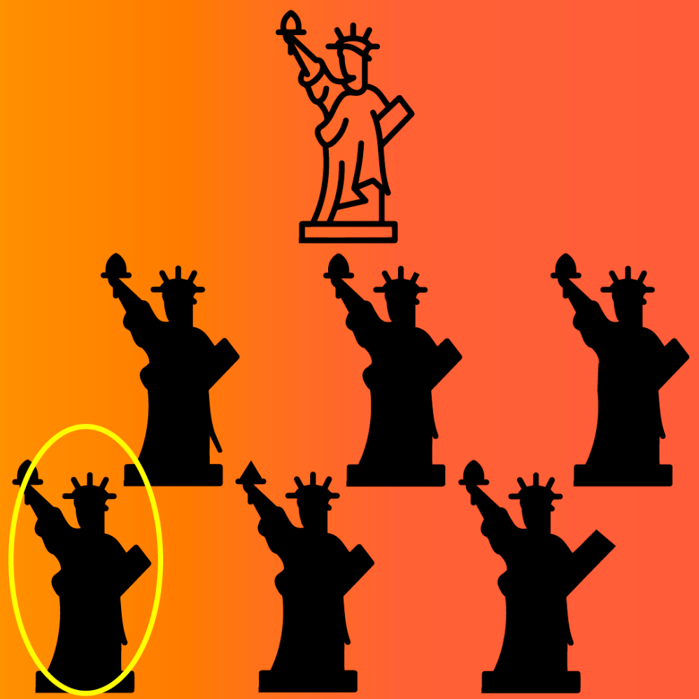 Respuesta juego mental estatua