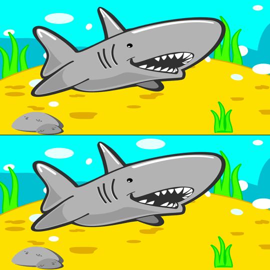 Encuentra las diferencias juego tiburon