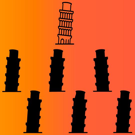 Brain training Tower of Pisa