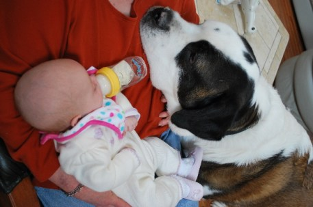 Nana, Mr. Griff and I!  Mr. Griff and I share Nana, he wanted her to feed him a bottle too!   HA WHOSE THE BABY NOW MR. GRIFF...