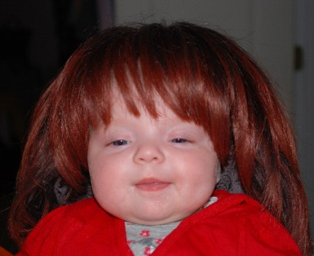 Bangs, red hair and a dimple, just for you dad!