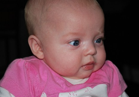 I am definately adorable, and according to Great Aunt Pam, the most photographed baby she has ever known!
