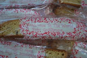 I know, it is a huge surprise that there are pink sprinkles on my biscotti...