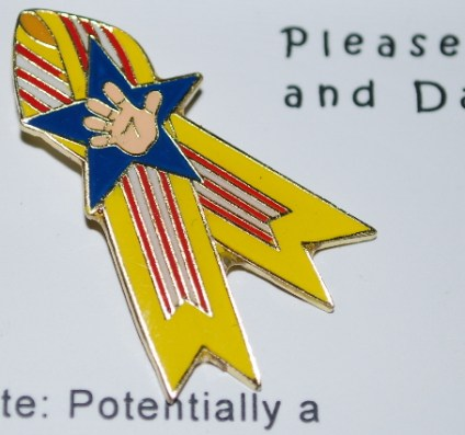 My new lapel pin.... designed just like the pins Nana made for me!