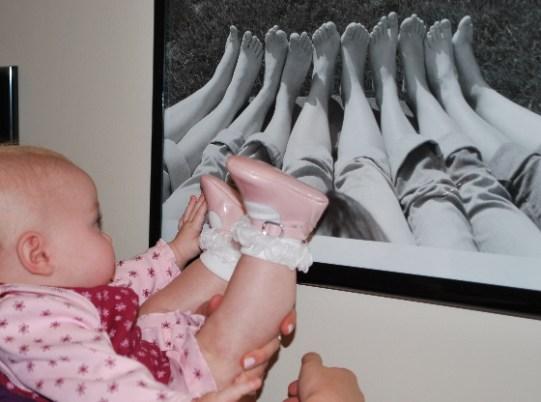 Look Mom, I could put my feet like that too.... but Nana gave me my own photo shoot!