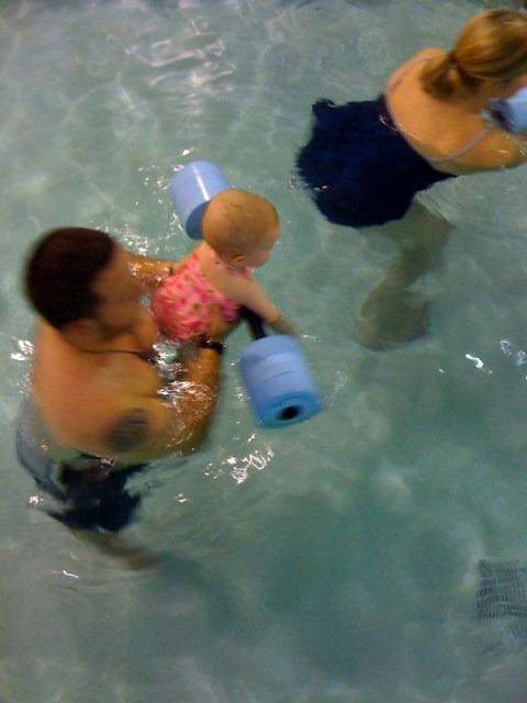 Working out in the pool.... so cool!